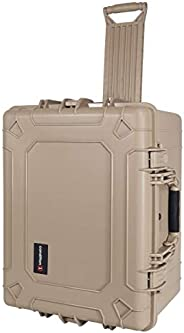 Condition 1 硬质塑料手机壳,带泡沫,棕褐色 - 62.4 x 49.7 x 37.1 厘米 - 车轮和伸缩手柄 - 用作相机包、工具箱、电子箱等 - TSA 认证