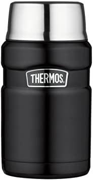 THERMOS 膳魔师 食品罐 不锈钢 King 哑光黑,24盎司/约0.71升