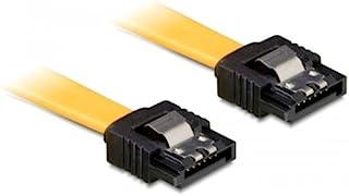 DeLOCK 6Gb/s SATA 电缆直线型/直金属黄色 0.7m