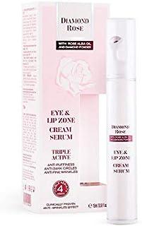 Biofresh 钻石玫瑰眼部和唇区霜精华三重活性玫瑰阿尔巴油和钻石粉 15 毫升