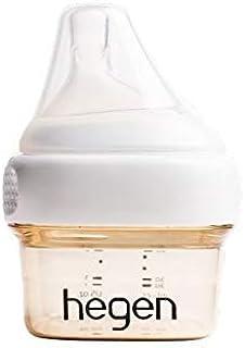 Hegen 婴儿奶瓶 – 防胀气婴儿奶瓶 宽领 – *喂养系统 2 盎司(约 56.7 克)带超慢流量奶嘴