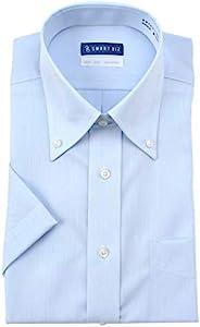 DRESSCODE101 免熨烫 短袖 衬衫 可洗涤晾干直接穿着 棉* 穿着舒适 清凉商务风格帅气设计 不挑场合 高定型 EHTO01 男士