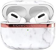 Richmond & Finch AirPods Pro 保护壳 [ 大理石 无线充电 Qi 适用 耐冲击 保护 保护套 保护壳 北欧设计 保护套 ] Marble RF19332APP (白色)【日本正规代理