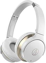 Audio-Technica 铁三角 无线蓝牙头戴式耳机 ATH-AR3BTWH,白色