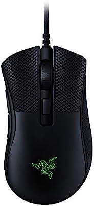 Razer 雷蛇 DeathAdder v2 迷你游戏鼠标:8500K DPI 光学传感器 - 62g 轻巧设计 - Chroma RGB 照明 - 6 个可编程按钮 - 含防滑握带 - 经典黑色