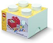 LEGO 乐高 石形储物盒 4个旋钮 可叠放的储物盒 5.7L,薄荷绿