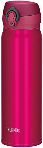 THERMOS 保温杯 真空易携带水杯 【一键打开式】600ml 石榴红 JNL-602 GR