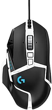 Logitech 罗技 G502 HERO 高性能游戏鼠标特别版,HERO 16K 传感器,16 000 DPI,RGB 可调重量,11 个可编程按钮,板载内存,PC / Mac - 黑色/白色