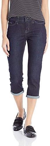 LEE 女式 Flex Motion 标准剪裁 5 口袋 七分牛仔裤