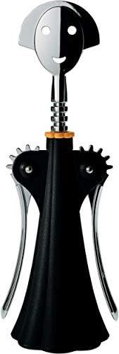 Alessi A di Alessi   AAM01B Anna G.设计树脂和铬扎马克红酒开瓶器 (黑色)