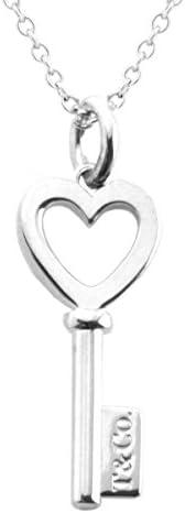 Tiffany & Co 蒂芙尼 纯银 心形钥匙吊坠项链 钥匙主题 41cm 3548