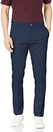 Haggar 男士 优质免烫修身休闲长裤 深蓝色,XX-Large