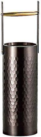 Sinkoukinzoku 新光金属 花朵底座 黑铜加工 60直径×213H毫米 真心 锤目一轮插入 手桶小 BC-1303