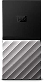 Western Digital WDBKVX0020PSL-WESN My Passport便携式固态硬盘 2 TB,黑色/银色
