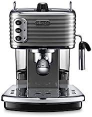 De'Longhi 德龙 Scultura ECZ351BG 复古半自动泵压式意式咖啡机 ECO节能模式/2个独立恒温器(水温,蒸汽温度)/1.4L 水箱/卡布