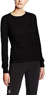 ODLO 152021 – Active Warm 女士功能内衣 – 长袖 T 恤带湿度调节功能 – 冬季保暖保暖衬衫