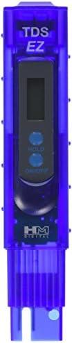 HM 数字 TDS-EZ 水质 TDS 测试仪,0-9990 ppm 测量范围,1 ppm 分辨率,3% 读数准确度 紫色 0-9990 ppm.测量范围:1 ppm 分辨率:+/- 3% 示值精度 TDS-EZ