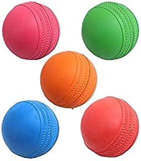 AANSSS 5 件装实心橡胶弹力球/练习球/操场球/宠物训练球,适合儿童/宠物/球员,初学者/球咬
