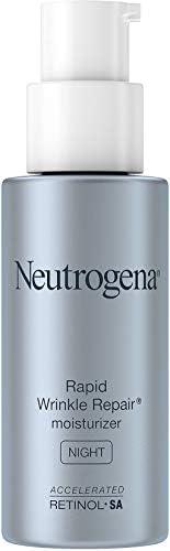 Neutrogena 露得清 快速皱纹修复 夜间面部保湿霜,抗皱面霜和颈霜,含透明质酸、视黄醇和甘油,1 盎司/29毫升
