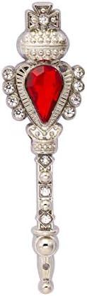 KINGPiiN 男士翻领别针 带宝石和施华洛世奇细节 胸针 服装别针 西装螺柱 男式配饰(银色)