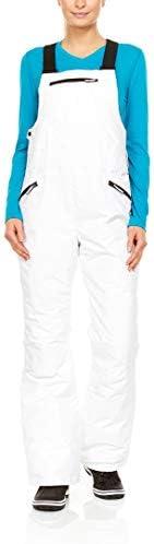 Swiss Alps 女式防水透气滑雪围兜裤带口袋