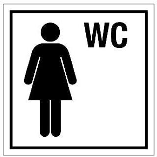 塑料门牌-女士卫生间-侧长 10 至 40 厘米 10 x 10 cm