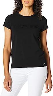 CALVIN KLEIN 女士 圆领短袖T恤 带logo