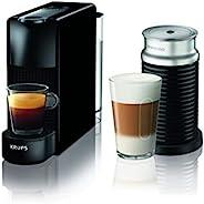 Krups 克鲁伯 Nespresso Essenza Mini 胶囊咖啡机 XN1118(1310W,0.7升,19bar,含Aeroccino奶泡器),黑色