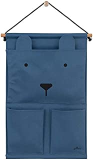 Jollein 051-872-65319 Canvas Animal Club 壁挂式收纳袋,蓝色,1500克