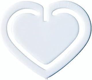 Laurel 回形针 聚苯乙烯材质 心形夹 30 毫米 100 个袋 白色