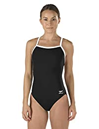 Speedo 女士 Race Endurance+ Polyester Flyback Training 游泳衣
