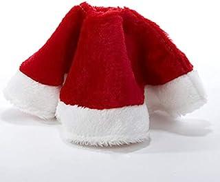 yuboo Mine 圣诞树裙,12 英寸红白天鹅绒树装饰