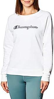 Champion 女士强力混合男友风圆领运动衫
