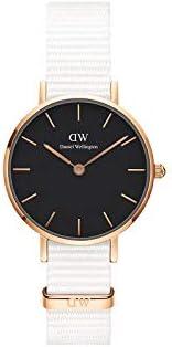 Daniel Wellington Petite Dover, Wei?/Roségold Uhr, 28mm, Nato, für Damen