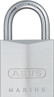 ABUS 75/30 全天候镀铬黄铜挂锁钥匙 不同 - 不锈钢锁扣