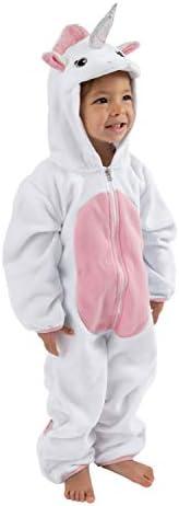 Cuddle Club 抓绒婴儿睡袋连体衣适合新生儿至 4T - 婴儿睡衣冬季夹克外套幼儿服装 Unicorn - Pink 2T