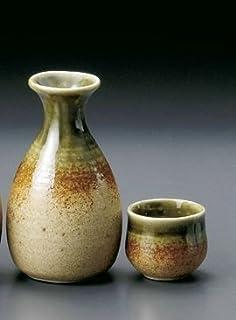 伊贺织部 2号 德利 & 酒杯 2个 套装 陶器 美浓烧