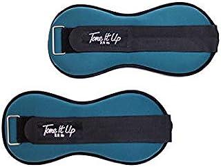 Tone It Up 脚踝重量套装 - 2.5 磅(约 1.1 公斤)阻力 - 女性锻炼 塑造您的靴子、腿和核心肌肉 - 用于快速锻炼的家庭健身设备
