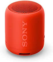 Sony 索尼 SRS-XB12 便携式无线蓝牙音箱(超重低音,防水,免提通话功能),红色