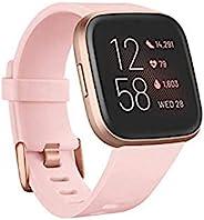 Fitbit Versa 2 Health & Fitness Smartwatch with Voice Control, Sleep Score & Music, Petal/Cop