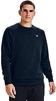 Under Armour 安德瑪 男士Rival寬松,舒適且溫暖的抓絨圓領運動衫