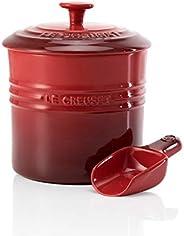 Le Creuset 酷彩 Stoneware 宠物食品容器,1.9升,樱桃色
