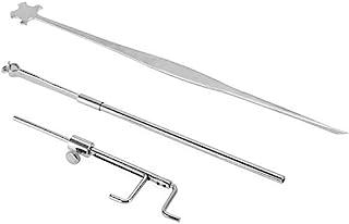 Chienti - 银色小提琴卢瑟工具声音柱测量仪取回器夹组小提琴零件和配件