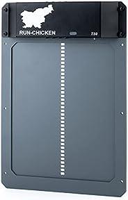 RUN-CHICKEN 型号 T50,灰色自动鸡舍门,全铝门,灯光感应,晚上和早晨延时打开定时器