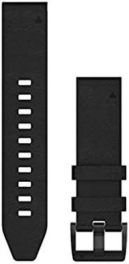 Garmin 010-12740-01 Quickfit 22 手表腕带 - 黑色皮革 - Fenix 5 Plus/Fenix 5