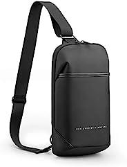 Kingsons 单肩斜挎包多功能背包,轻质防水胸袋,适用于徒步散步、骑自行车、旅行骑行