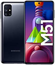 Samsung 三星 Galaxy M51 Android 智能手机无合同,四摄像头,6.7 英寸 Infinity-O Super AMOLDED + 显示屏,强大的 7000 mAh 电池,128 GB/6 GB,黑
