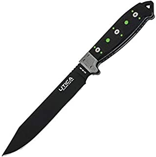 UTICA USA 自 1910 年起 – Stealth VI,固定 7 英寸(约 17.78 厘米)刀片和带 Micarta 手柄在美国制造的完美生存工具、狩猎、露营或任何户外活动。