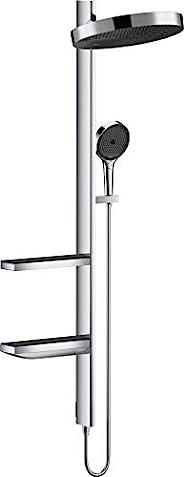 hansgrohe 汉斯格雅 Rainfinity 360 暗装淋浴花洒套装(头顶花洒,手持花洒,花洒导轨,恒温器,软管,淋浴杆架,3种喷淋模式),镀铬