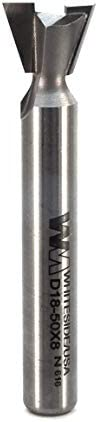 Whiteside Router Bits D18-50x8 Dovetail Bit with 1/2-Inch Large Diameter and 3/8-Inch Cutting Length